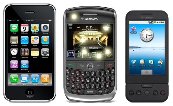 iPhone, Blackberry, G1